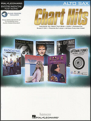 Chart Hits for Alto Sax Instrumental Play-Along Sheet Music Book/DLC