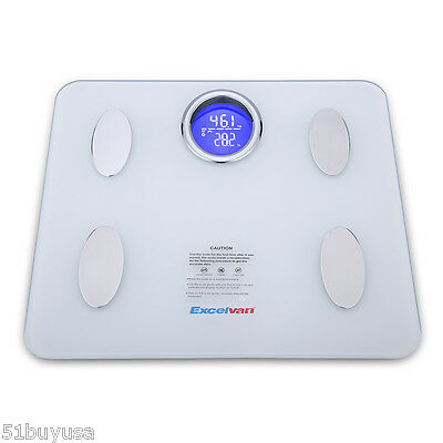 Digital Bathroom Weight Scale Body Fat Bluetooth BIA Scale LCD Electronic 180kg