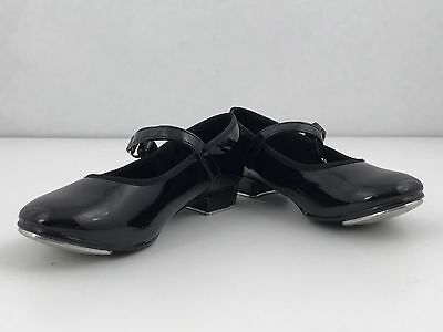 ABT American Ballet Theatre Black Mary Jane Style Tap Shoes Toddler Size 10
