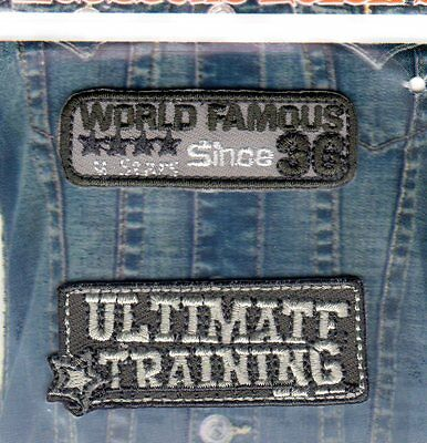 Patch Ecusson Thermocollant WORLD FAMOUS  Pos 71