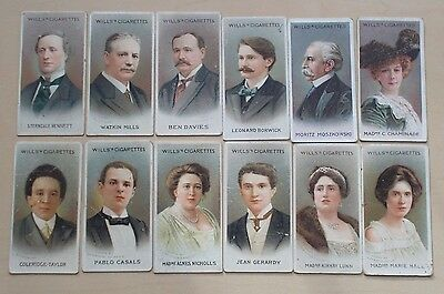 cigarette cards WILLS MUSICAL CELEBRITIES 2ND SERIES LOT A