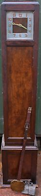 Very Unusual Old Arts & Crafts Type Weight Driven Grandmother Sized Clock