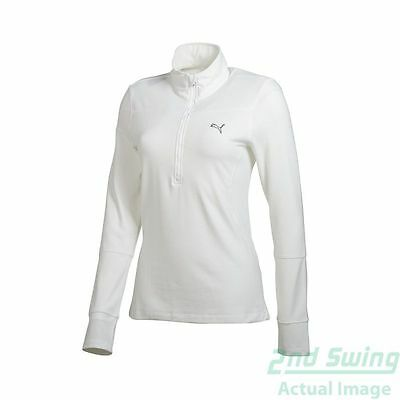 New Womens Puma Dry Cell Wicking Golf 1/4 Zip Pullover SM White 567007 MSRP $60