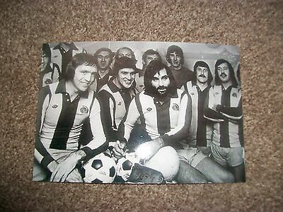 """WEST BROMWICH ALBION Jeff Astle Testimonial with George Best   6""""x4""""  REPRINT"""