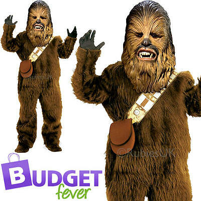 Deluxe Chewbacca Boys Star Wars Fancy Dress Movie Film Kids Children Costume New