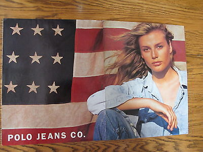 Ralph Lauren Polo Jeans Print Ads ,clippings Bridget Hall