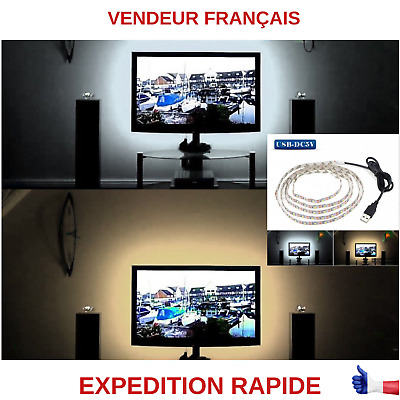 Ruban Led Tv Arriere Plan Blanc-Blanc Chaud Pour Tv Ordinateur Tablette Etc....