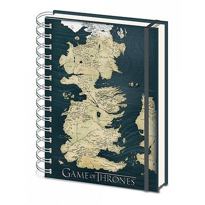 GAME OF THRONES A5 NOTEBOOK Map
