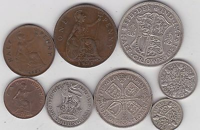 1931 George V Set Of 8 Coins In Good Fine Or Better Condition