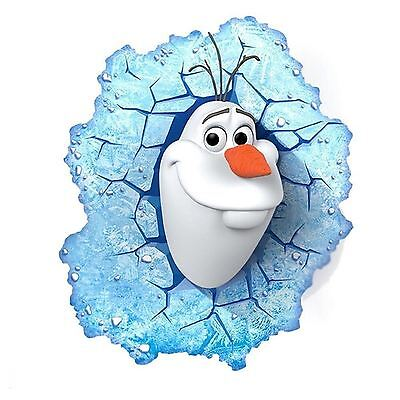 Disney Frozen Olaf 3D Led Deco Wall Light + Stickers