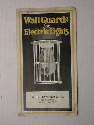 McGill Mfg. Co. Crescent Wal Guards Cage Lamp Light Bulb Brochure Antique Old