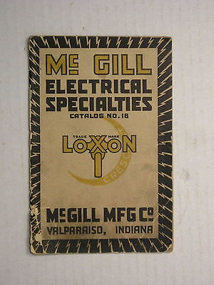 McGill Electrical Specialties Catalog Loxon Lamp Guard Gage Light Antique Bulb