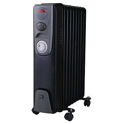 Bentley Portable Oil Filled Electric Radiator 2000W Heater With Timer Thermostat