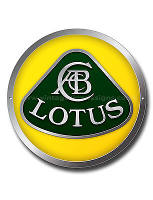 "Lotus 11"" Round Metal Sign.lotus Sports Car,vintage Lotus Cars,classic Lotus Car"