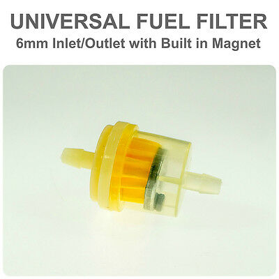 Universal Motorcycle Scooter Inline 6mm magnetic Clear Fuel Filter