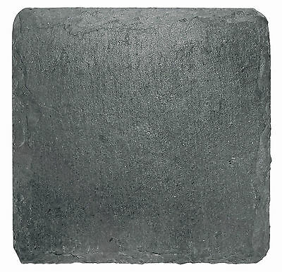 I Style Natural Slate Coasters Set of 4 Hand Made Grey 10cm x 10cm Drink Mat New