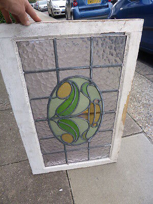 Antique Edwardian stained glass window frame (no 3)