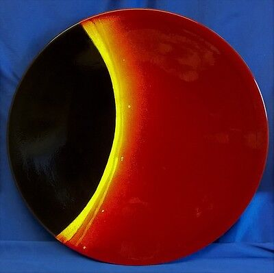 POOLE POTTERY STUDIO LIMITED EDITION ECLIPSE 41cm CHARGER DISH