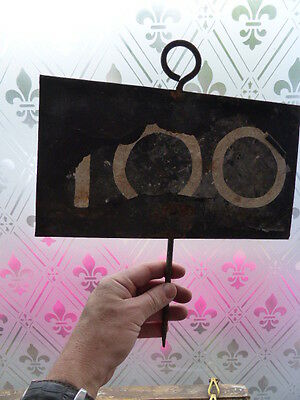 Antique marker from school sports day  - 100m sign