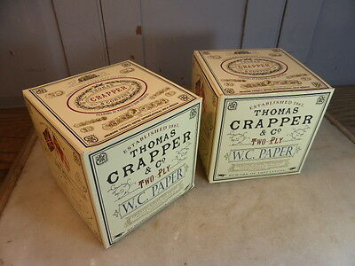 3 Thomas Crapper toilet paper (new & boxed)