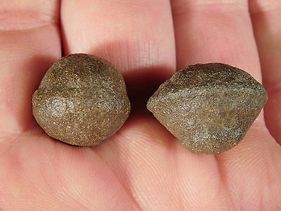 A TINY! 100% Natural Pair of Moqui Marbles or Shaman Stones From Utah 13.4gr