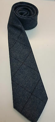 Loden Blue Tweed Tie 100% Pure Wool 4 Dressed Shirt Kilts Sporran