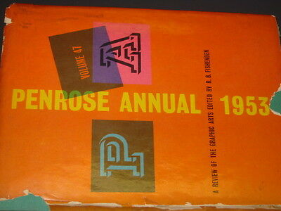 1953 Penrose Annual Vol. 47/review Of The Graphic Arts