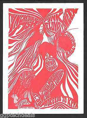 Pink Floyd Sopwith Camel Incredible Fish Benefit Concert Handbill Flyer 1967 AOR