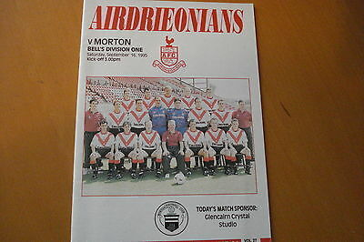 Airdrieonians (Airdrie) V Morton                                         16/9/95