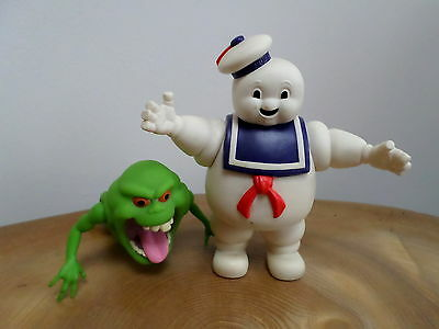 VINTAGE ORIGINAL GHOSTBUSTERS SLIMER & STAY PUFT ACTION FIGURES Columbia 1984