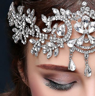 Bridal Hairbands Crystal Headbands Silver Tiaras And Crowns Head Chain