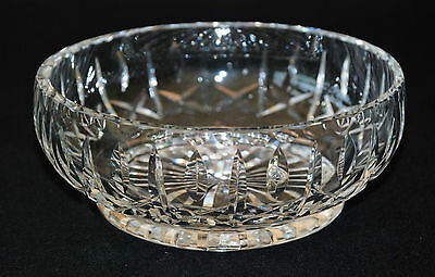 Quality Cut Glass Bowl Round Great Condition
