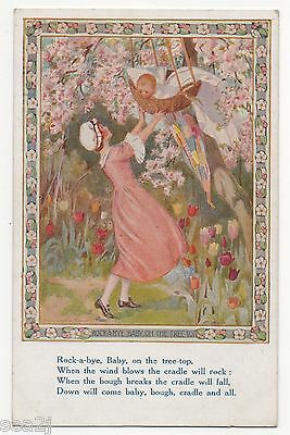 MARGARET TARRANT, ROCK-A-BYE-BABY ON THE TREE TOP, USED ,PKT No.?