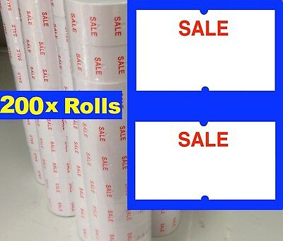 200 Standard SALE Price Pricing Gun Labeller Tag Tagging Label Rolls 4 MX 5500