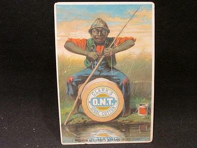 Clark's ONT Spool Cotton I Reckon Dis Yere's Strong 'Nuff Suah Victorian Card
