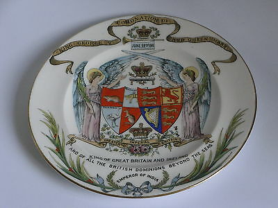 Shelley Commemorative Plate Coronation Of George V & Queen Mary - June 22Nd 1911
