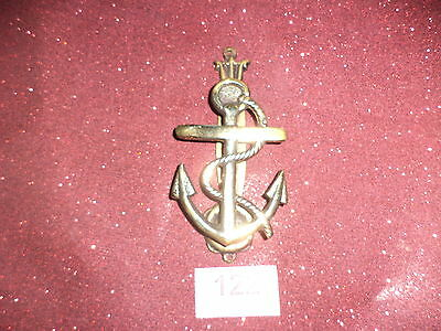 Antique brass door knocker  anchor