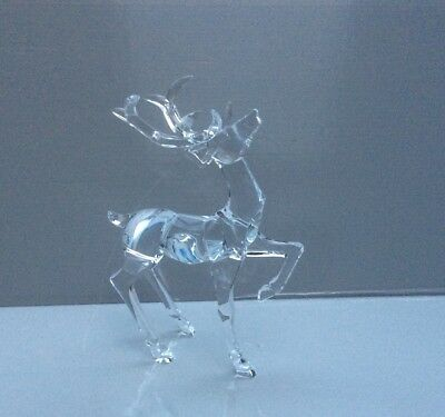 New Pair 20cm Clear Acrylic Reindeer's Christmas Decorations / Figures OFFER!