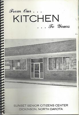 *dickinson Nd 1984 Vintage *sunset Senior Citizens Center Cook Book *local Ads