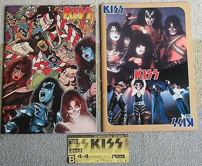With TICKET! KISS set of 2 x JAPAN tour books 1977 & 1978 Gene Simmons PROGRAM
