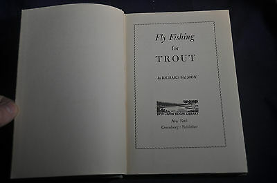 1952 Fly Fishing for Trout