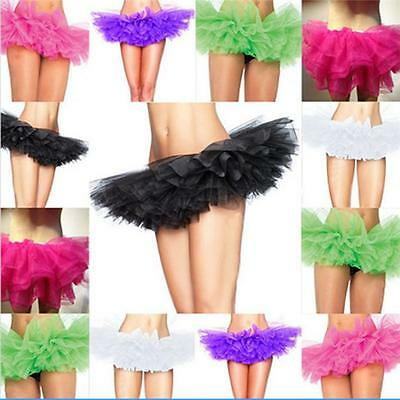 Adults Women Girl Classical Tutu Ballet Skirt 5 Layer Tulle Costume Dance Dress