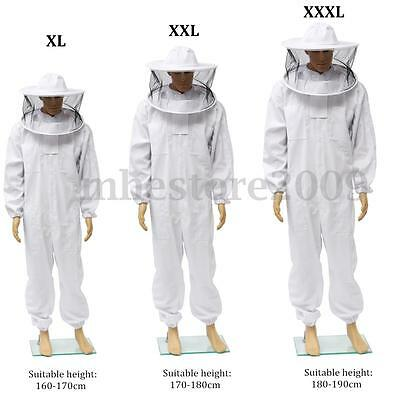 Professional Beekeepers Beekeeping Cotton Full Protection Suit w/ Veil Hat Hood