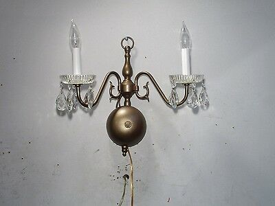 Vintage Sconce Single 2 Light  Federal Style