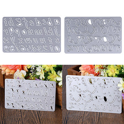 Number And Letter DIY Cutting Die Cuts Metal Scrapbooking Photo Card Album Craft