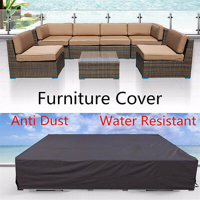 Outdoor Furniture Waterproof Sofa Table Wicker Sun Rain Cover Protection Patio