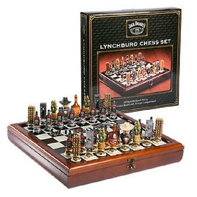 Jack Daniels Lynchburg Chess Set 32 Hand Sculpted Pieces BRAND NEW RRP $499