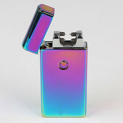 USB Electric Arc Windproof Rechargeable Pulse Cigarette Cigar Lighter Gift AU