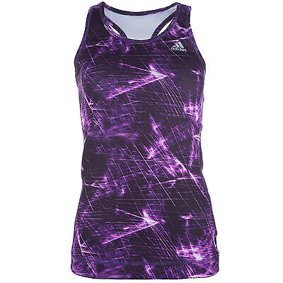 Womens adidas Womens Tech Fit Solid Tank Top in Purple - 8-10 From Get The Label