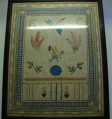 Antique reframed sampler
